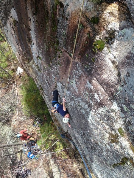 Rock Climbing Photo: torie on the beginning of the route...