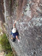 Rock Climbing Photo: torie figuring out how to make this big reach with...