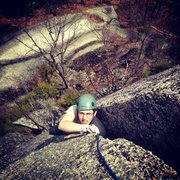 Rock Climbing Photo: Devon learning what a squeeze chimney should feel ...