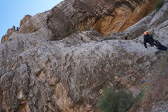 Rock Climbing Photo: Sprax near the top.   The rope indicates the whole...