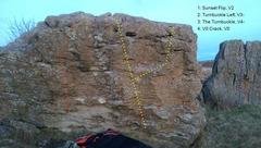 Rock Climbing Photo: The Turnbuckle boulder.