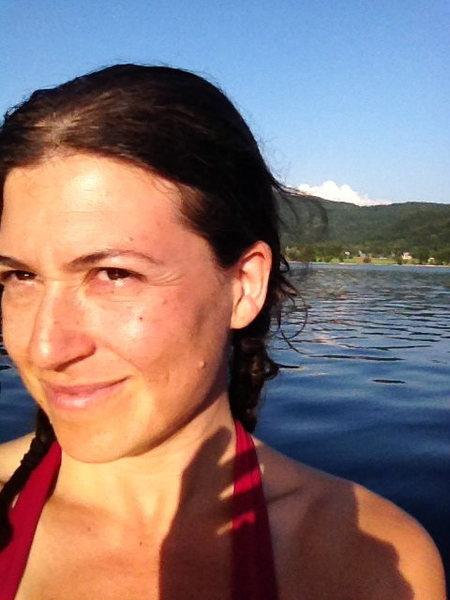 Rock Climbing Photo: on a lake in slovenia