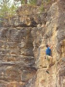 Rock Climbing Photo: Mike Cronin going for the anchors.