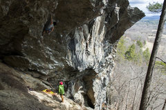 Rock Climbing Photo: A chilly April day at upper Orange Crush.