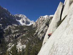 Rock Climbing Photo: Julien Lecorps on the 2 bolt slab extension to Tan...