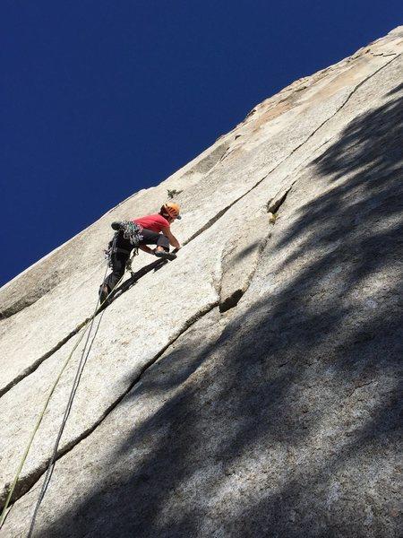 Julien Lecorps climbing Tanager