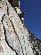 Rock Climbing Photo: Pitch 4,  A few fun horizontal moves to a exciting...