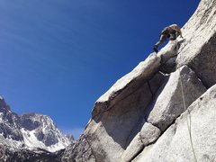 Rock Climbing Photo: Glean Deal, above the big ledge and the start of t...