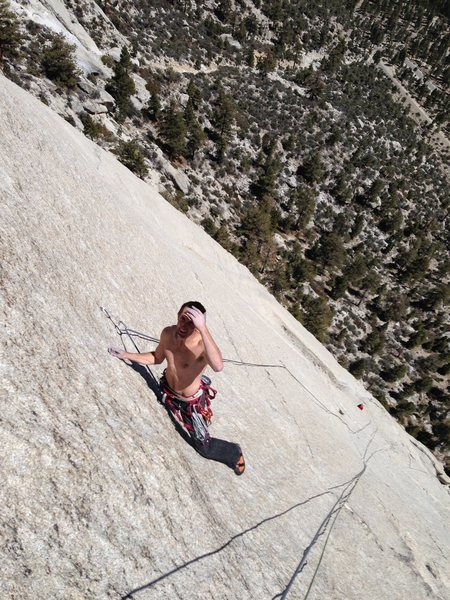 Jeff Fox on very enjoyable Tuolumne-like bolted knob climbing