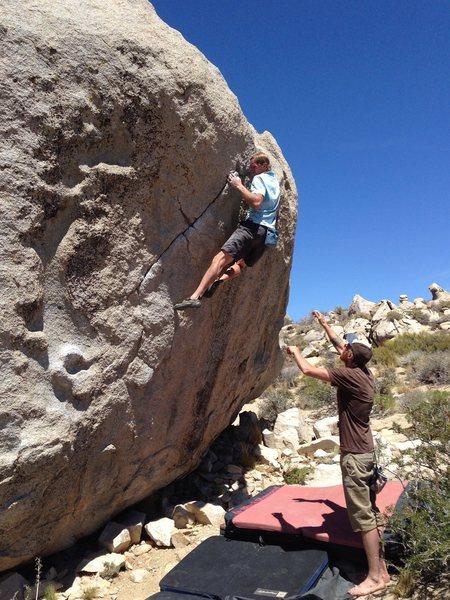 FUN moves.  Climber: John Randall