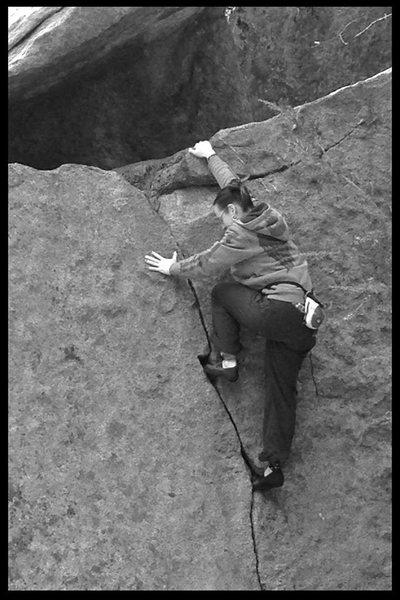 Rock Climbing Photo: Nicole getting classic