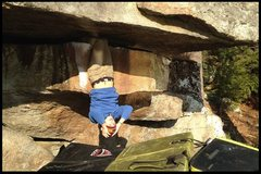 Rock Climbing Photo: zach resting