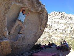 Rock Climbing Photo: Unique movement Climber: John Randall