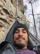 Rock Climbing Photo: Just hanging out on a hammock at Foster Falls duri...