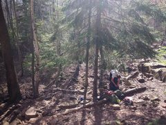Rock Climbing Photo: Beautiful day to be in the woods.