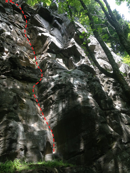 Rock Climbing Photo: Solid Gold