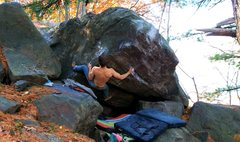 Rock Climbing Photo: Getting into the prow.
