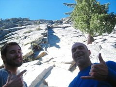 Rock Climbing Photo: Looking up at the first pitch. Chad Parker and Nic...