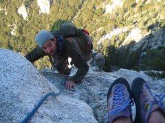 Rock Climbing Photo: Nick Krawiek summitting Northeast Face West. Five ...