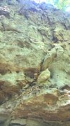 Rock Climbing Photo: After the roof at the base, you climb the face unt...