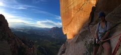 Rock Climbing Photo: Views from top of second pitch (belayed off rap an...
