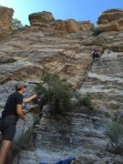 Rock Climbing Photo: Top Roping Cell Block 6 = 5.6