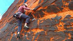 Rock Climbing Photo: Starting up Sacred Undergarment Squeeze Job.