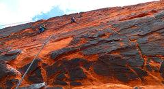Rock Climbing Photo: High on Sacred Undergarment Squeeze Job.