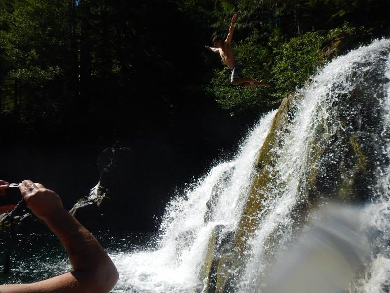 Rock Climbing Photo: cliff diving opal creek
