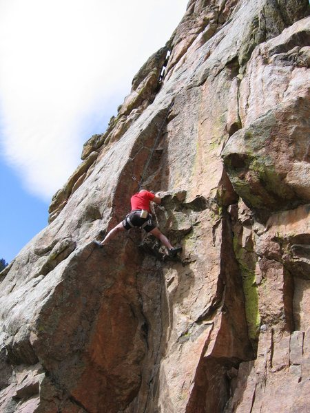 Rock Climbing Photo: Mr. Hand in the same position as PH in the earlier...