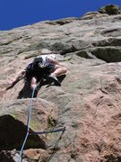 Rock Climbing Photo: PH holding on to the namesake hold of the climb. B...