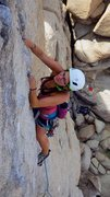 Rock Climbing Photo: Allison leading Sail Away.
