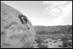 Rock Climbing Photo: getting out of the business section