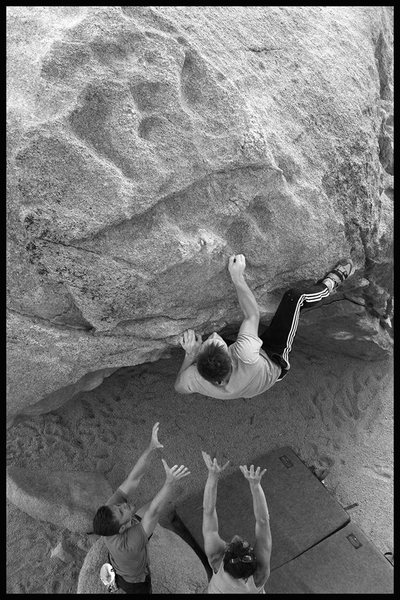 Rock Climbing Photo: dude i met out there making it look easy on his fi...