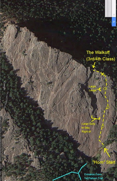 Rock Climbing Photo: The route I took.