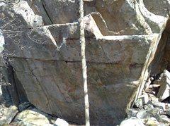 Rock Climbing Photo: Ridge Boulders Area: Sanctuary Wall. Really nice w...