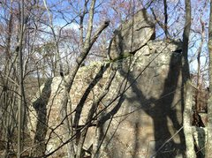 Rock Climbing Photo: Upper Boulders Area: Turtle Boulder, viewed from t...