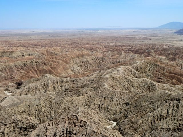 Rock Climbing Photo: The view from Font's Point , Anza Borrego SP