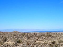 Rock Climbing Photo: The Salton Sea from S-22, Anza Borrego SP