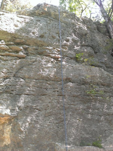 Rope hanging on Unknown 4 Bolt Sport Route.