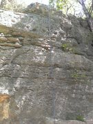 Rock Climbing Photo: Rope hanging on Unknown 4 Bolt Sport Route.