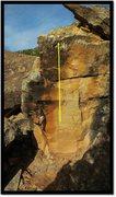 Rock Climbing Photo: Paperboy problem beta.