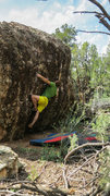 Rock Climbing Photo: Start beta/eyeing the move to the pinch on Venison...