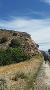 Rock Climbing Photo: Walking down the cement path behind the houses tow...