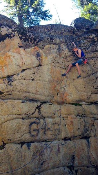 Rock Climbing Photo: Last bolt!