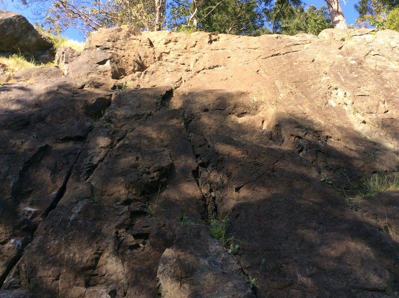 Rock Climbing Photo: Talking turkeys. Mantle, to crux