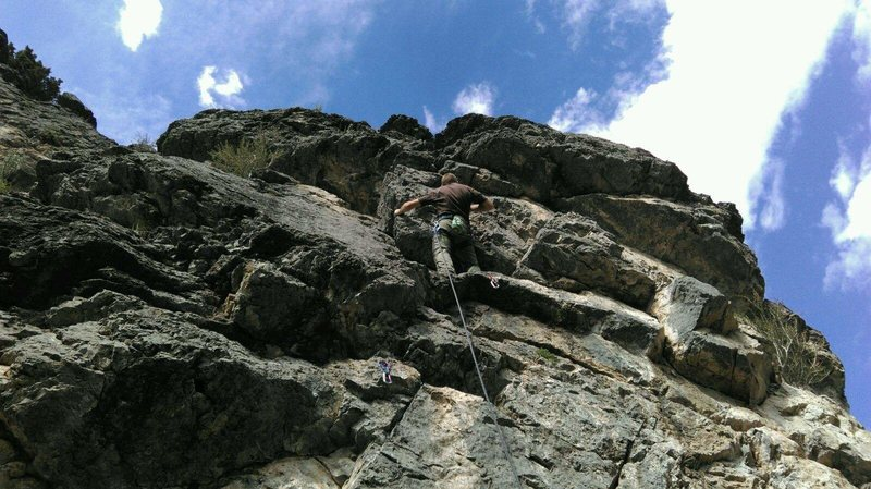 Rock Climbing Photo: Fun Unknown route 5.8 in Logan, Utah