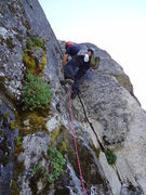 Rock Climbing Photo: Jamming the start of Sun Tzu