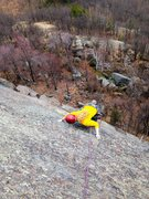 Rock Climbing Photo: Grace on the follow of P2