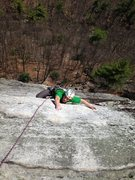 Rock Climbing Photo: Dom, demonstrating some quality sequencing through...
